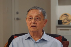 Larry Grant, in a still from All Father's Relations, shares his experience of reuniting with his father's family in China.