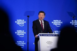 Chinese President Xi Jinping at the World Economic Forum in Davos, Jan. 17, 2017.