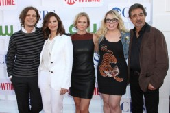 (L-R) 'Criminal Minds' cast Matthew Gray Gubler, Jeanne Tripplehorn, A. J. Cook, Kirsten Vangsness and Joe Mantegna attend the CW, CBS, and Showtime 2012 Summer TCA Party held on July 29, 2012 in Beve