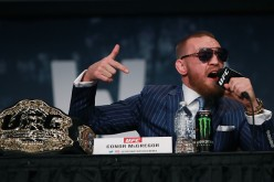 Conor McGregor addresses the media at the UFC 205 press conference at The Theater at Madison Square Garden on September 27, 2016 in New York City.