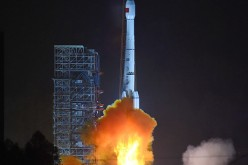 A Long March-3B carrier rocket is launched with the Gaofen-4 Satellite in Xichang in southwest China's Sichuan Province.