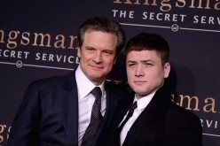 Colin Firth and Taron Egerton attend 'Kingsman: The Secret Service' New York Premiere at SVA Theater on Feb. 9, 2015.