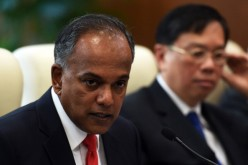 Chinese Foreign Minister Wang Yi Meets With Singapore's Foreign Minister K. Shanmugam