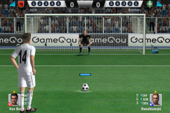 Gamegou's Soccer Shootout combines the excitement of sports games with simple Fruit Ninja-like gameplay.