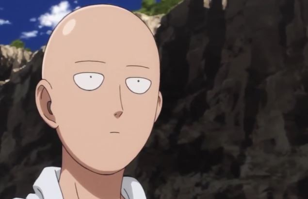 Saitama went bald training in the One Punch Man anime series.