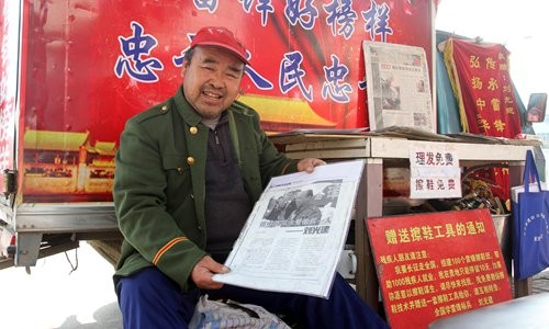 During the last 18 years, Liu Jianguang has already reached 31 regions and provinces in China to promote Lei Feng's philosophy.