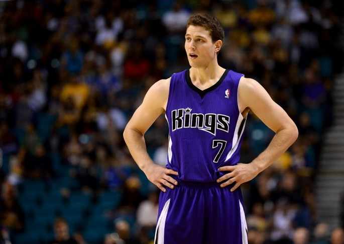 Jimmer Fredette during his stay with the Sacramento Kings in the NBA.