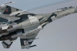 Su-35S of the Russian Air Force.