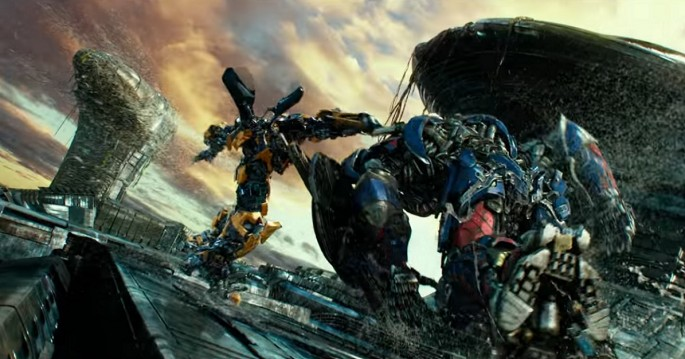 "Bumblebee fights Optimus Prime in ""Transformers: The Last Knight"" trailer."