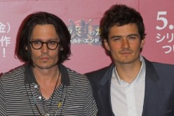 Johnny Depp and Orlando Bloom during 'Pirates of the Caribbean: At World's End' Tokyo Press Conference - Photocall at Park Hyatt Tokyo in Tokyo, Japan.