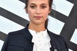 Alicia Vikander attends the Louis Vuitton show as part of the Paris Fashion Week Womenswear Spring/Summer 2017 on October 5, 2016 in Paris, France.