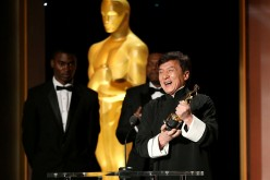 Honoree Jackie Chan accepts his award during the Academy of Motion Picture Arts and Sciences' 8th annual Governors Awards at The Ray Dolby Ballroom at Hollywood & Highland Center on November 12, 2016 in Hollywood, California.