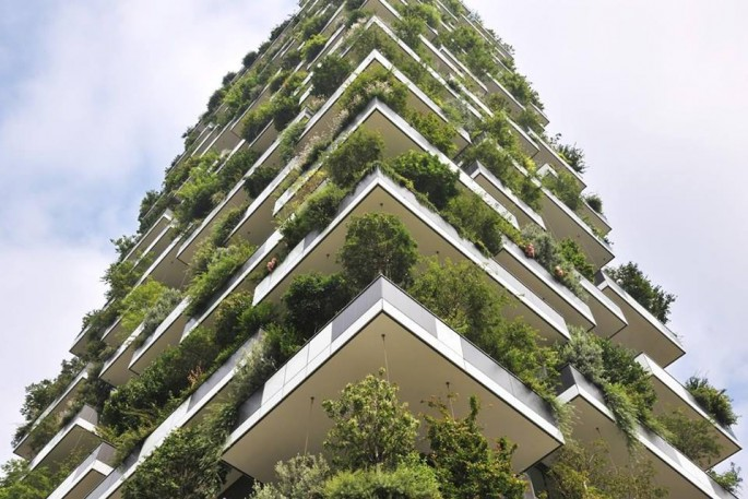 "Both buildings, due to their ""vertical forest"" design, will feature about 2,500 cascading plants and over 1,100 trees."