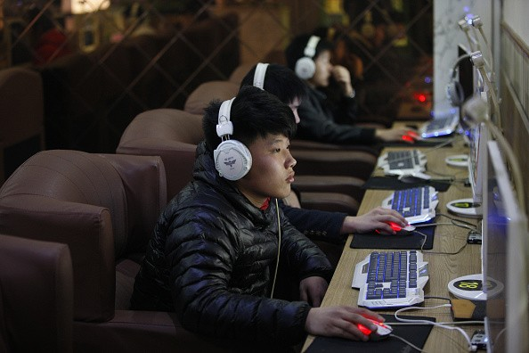 Adolescents play online games at an Internet bar in Huaibei, Anhui, China.