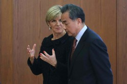 Chinese Foreign Minister Wang Yi discussed with his Australian counterpart Julie Bishop.