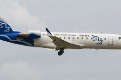 A China Express Airline Bombardier CRJ900 plane