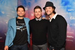 Misha Collins, Jensen Ackles and Jared Padalecki attend the CW's Fan Party to Celebrate the 200th episode of 'Supernatural' on November 3, 2014.