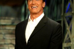 Arnold Schwarzenegger appears on the 'Tonight Show with Jay Leno' at NBC Studios August 6, 2003 in Burbank, California. Schwazenegger announced today that he intends to run for governor of California in the recall election of Gov. Gray Davis.