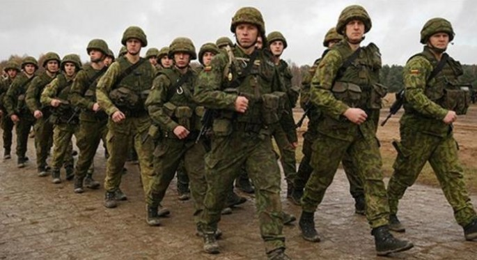 Men of the Lithuanian Ground Forces.