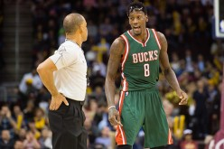 Official Danny Crawford listens to Larry Sanders of the Milwaukee Bucks complain after he was called for a technical foul during the second half against the Cleveland Cavaliers at Quicken Loans Arena on December 2, 2014 in Cleveland, Ohio.