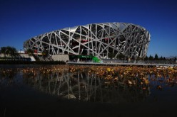 "The Beijing National Stadium, popularly called the ""Bird's Nest,"" now welcomes sightseers in its roof corridor section."