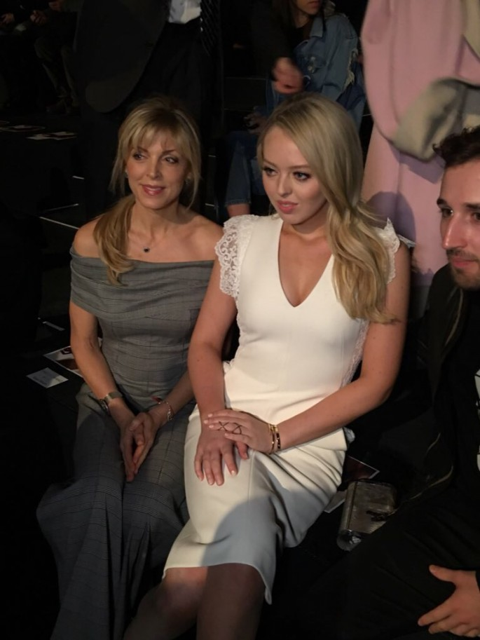 Tiffany Trump wears Taoray Wang at the New York Fashion Week.