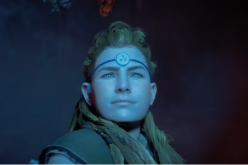 Aloy as she readies herself to fight the mechanized beasts in