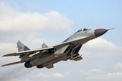 One of Serbia's four MiG-29s.