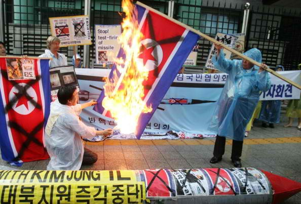 Citizens from South Korea hold protests to voice opposition to North Korea's missile launch.