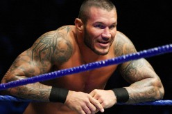 'The Viper' Randy Orton leans on the ropes during the WWE Smackdown Live Tour at Westridge Park Tennis Stadium on July 08, 2011 in Durban, South Africa.