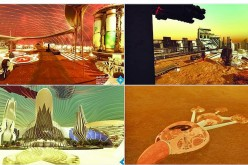 Concept drawings for the UAE's City on Mars 2117.