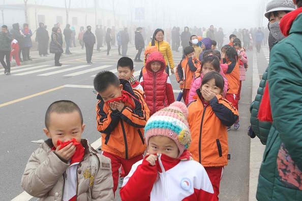 Children's health is compromised by the bad air quality in China's major cities.