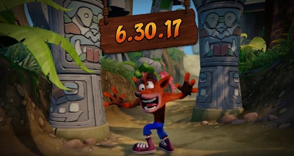 """Crash Bandicoot N. Sane Trilogy's"" protagonist Crash dances crazily after revealing the video game's release date."
