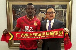 Jackson Martinez being welcomed to Guangzhou Evergrande.