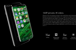 An artist render of the iPhone 8 as it sports a bezel-less design.