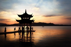 The West Lake is one of the more popular tourist spots in Zhejiang Province.
