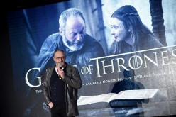Liam Cunningham speaks onstage during 'Game of Thrones': The Complete Fifth Season DVD/Blu-Ray Fan Screening at Herald Square on March 15, 2016 in New York City.
