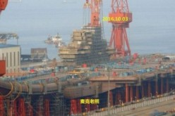 Construction of the CNS Shandong as of October 2016.