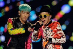 G-Dragon and T.O.P of BIGBANG perform on the stage during a concert at the K-Collection In Seoul on March 11, 2012 in Seoul, South Korea.