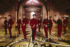 Super Junior in a still from their hit song,