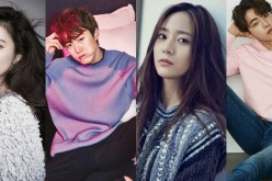 (L-R) Shin Se-Kyung, Gong Myung, f(x)'s Krystal Jung and Nam Joo-Hyuk star in the tvN drama 'Bride of the Water God.'