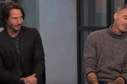 Keanu Reeves and 'John Wick 2' director, Chad Stahelski, are comfortably sitting down as they answer questions regarding the movie.