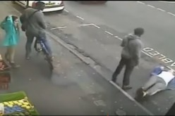 A CCTV footage showcases a man lying on the ground after receiving a deadly one punch from an assailant.