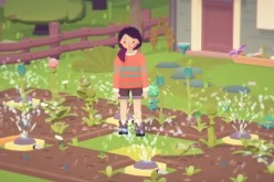 The female protagonist grows different types of crops in