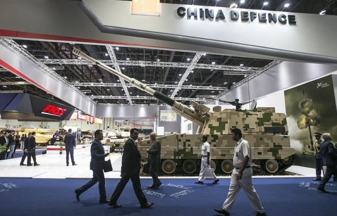 Chinese weapons for sale at IDEX 2017.