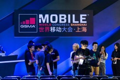 Participants discuss at Mobile World Congress Shanghai 2016