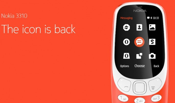 MWC 2017 Brings Back Nokia 3310 Packed with Long Battery Life, Color Display and Snake at $52