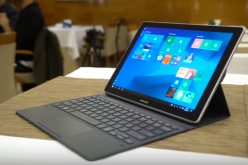 The 12-inch render of the Samsung Galaxy Book was unveiled at the 2017 MWC.