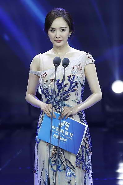 "Chinese actress Yang Mi plays the role of the heroine in the TV show ""Three Lives, Three Worlds."""