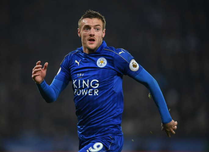 Leicester City striker Jamie Vardy.